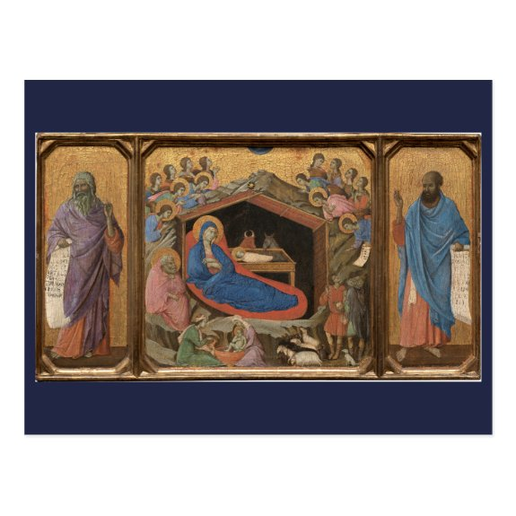 The Nativity 1308 | Blue Beach Song™ Postcard