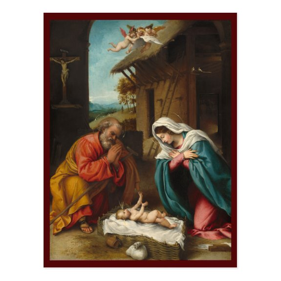 The Nativity 1523 | Blue Beach Song™ Postcard