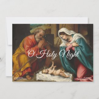 The Nativity 1523c | Blue Beach Song™ Holiday Card