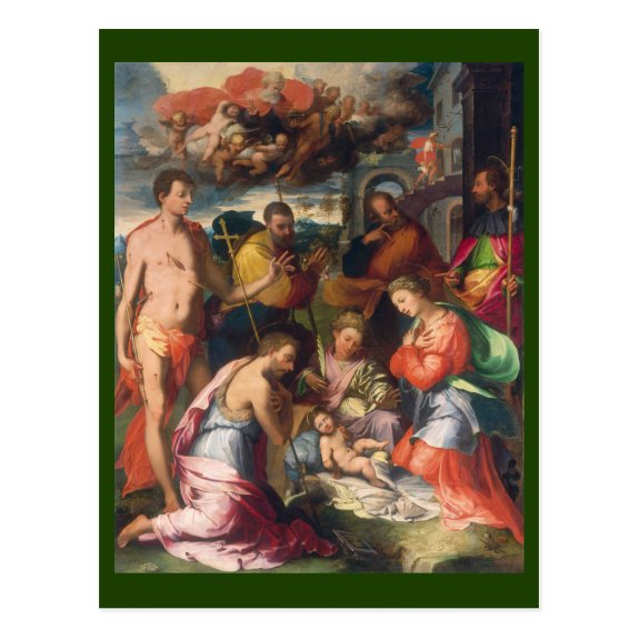 The Nativity 1534 | Blue Beach Song™ Postcard