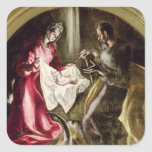 The Nativity, 1587-1614 Square Sticker