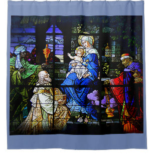 THE NATIVITY 7 SHOWER CURTAIN