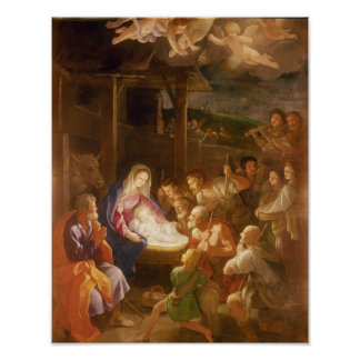 The Nativity at Night 1640 Poster