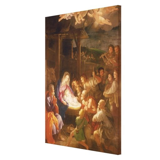 The Nativity at Night, 1640 Stretched Canvas Print