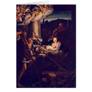 The Nativity By Antonio Allegri Da Correggio Greeting Card