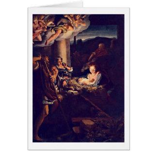The Nativity By Antonio Allegri Da Correggio Cards