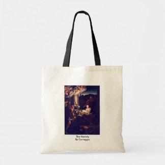 The Nativity By Correggio Canvas Bag