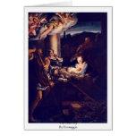 The Nativity By Correggio Greeting Card