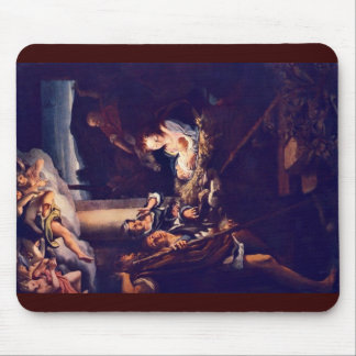 The Nativity By Correggio Mouse Pads