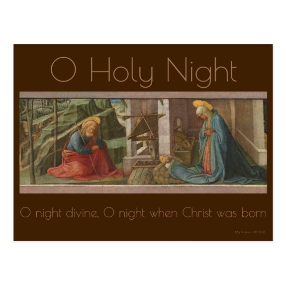 The Nativity c.1445 | Blue Beach Song™ Postcard