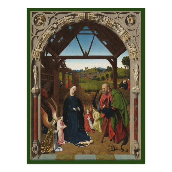 The Nativity c.1450 | Blue Beach Song™ Postcard