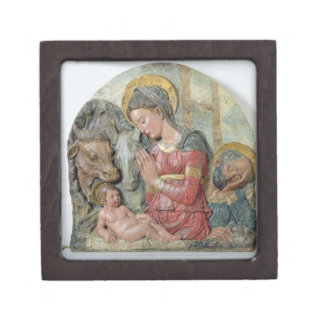The Nativity, c.1460 (painted terracotta) Gift Box