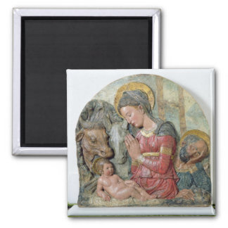 The Nativity, c.1460 (painted terracotta) Magnet