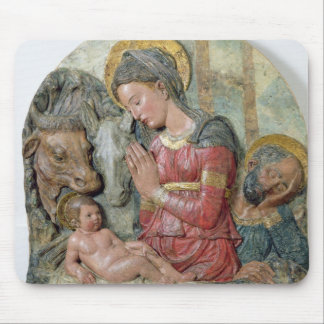 The Nativity c 1460 painted terracotta Mousepad