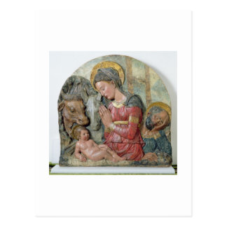 The Nativity, c.1460 (painted terracotta) Postcard
