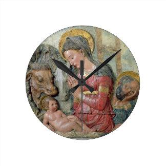 The Nativity, c.1460 (painted terracotta) Round Clock