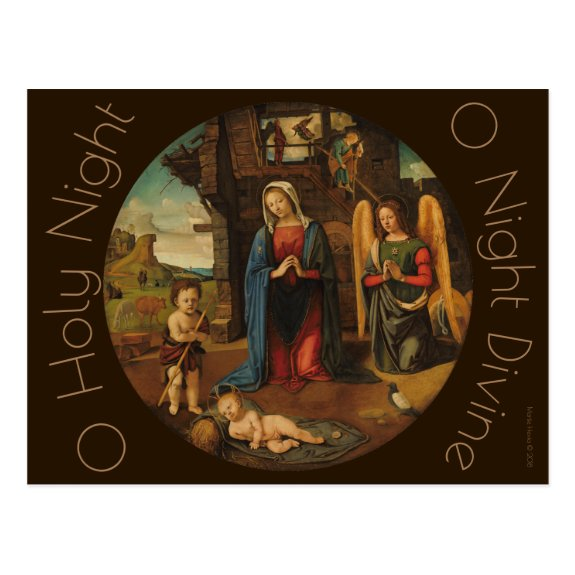The Nativity c.1495 | Blue Beach Song™ Postcard