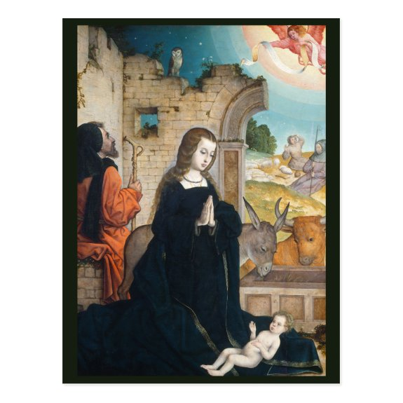The Nativity c.1508 | Blue Beach Song™ Postcard