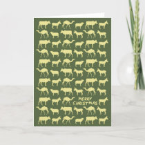 The Nativity Card - Merry Christmas - Green/Yellow