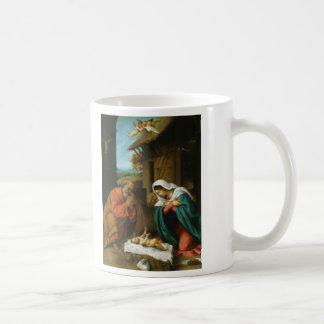 The Nativity Christi Geburt by Lorenzo Lotto Classic White Coffee Mug