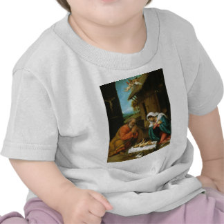 The Nativity Christi Geburt by Lorenzo Lotto Tee Shirt