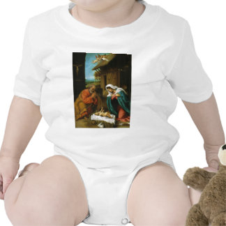 The Nativity Christi Geburt by Lorenzo Lotto Tshirt