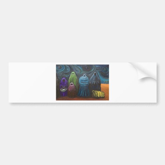 The Nativity (Christianity theme surrealism) Bumper Sticker