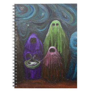 The Nativity (Christianity theme surrealism) Spiral Note Book