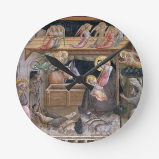 The Nativity, detail from The life of the Virgin a Round Clock
