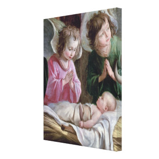 The Nativity, from the Buxtehude Altar, 1400-10 Canvas Print