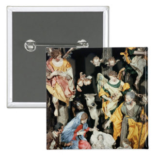 The Nativity, made in Naples Pinback Button
