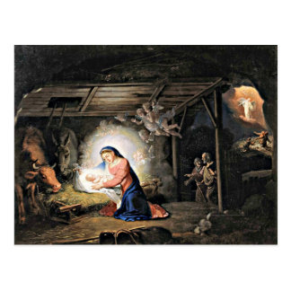 The Nativity of Christ - Vladimir Borovikovsky Postcard