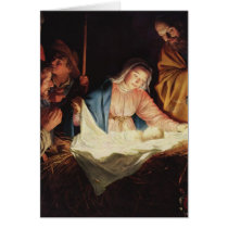 The Nativity of Jesus - Gerard van Honthorst Card
