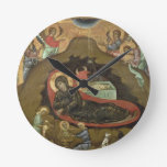 The Nativity, (oil on panel) Round Wallclock