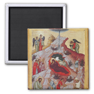 The Nativity, Russian icon, 16th century Magnet