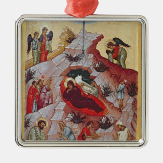 The Nativity, Russian icon, 16th century Metal Ornament