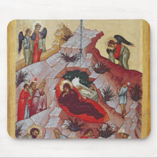 The Nativity, Russian icon, 16th century Mousepads