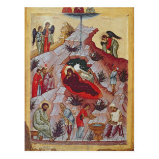The Nativity, Russian icon, 16th century Postcard