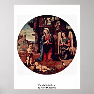 The Nativity Scene By Piero Di Lorenzo Print