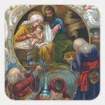 """The Nativity"" Square Stickers"