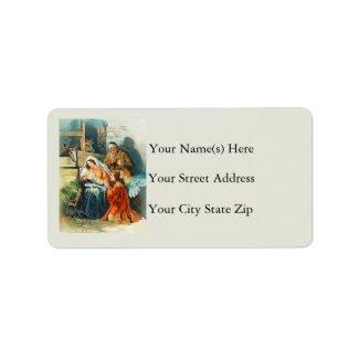 The Nativity Vintage Address Label