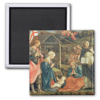 The Nativity with SS. Michael and Dominic, 1470 (t Magnet