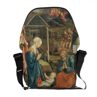 The Nativity with SS. Michael and Dominic, 1470 (t Messenger Bag