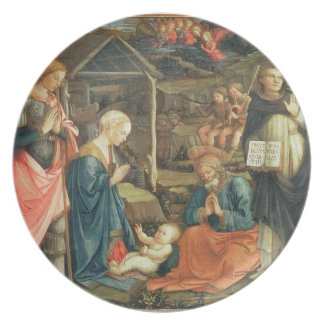 The Nativity with SS. Michael and Dominic, 1470 (t Plate