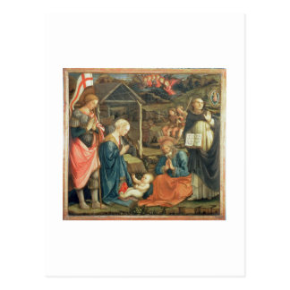 The Nativity with SS Michael and Dominic 1470 t Postcards