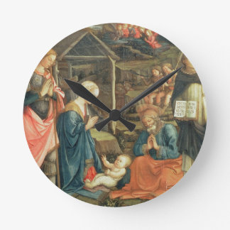 The Nativity with SS. Michael and Dominic, 1470 (t Round Clock