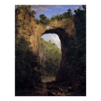 The Natural Bridge, Virginia by Frederick  Church Poster