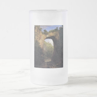The Natural Bridge, Virginia by Frederick Edwin Ch Frosted Glass Beer Mug