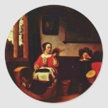 The Naughty Drummer By Maes Nicolaes (Best Quality Sticker