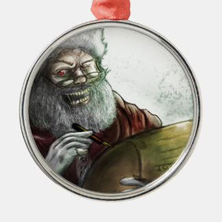 The Naughty list Metal Ornament